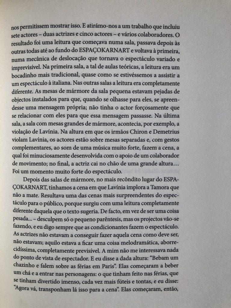 """""""Convite para fazer TITUS"""", Luís Castro entrevistado por M. Helena Serôdio, pág. 101"""