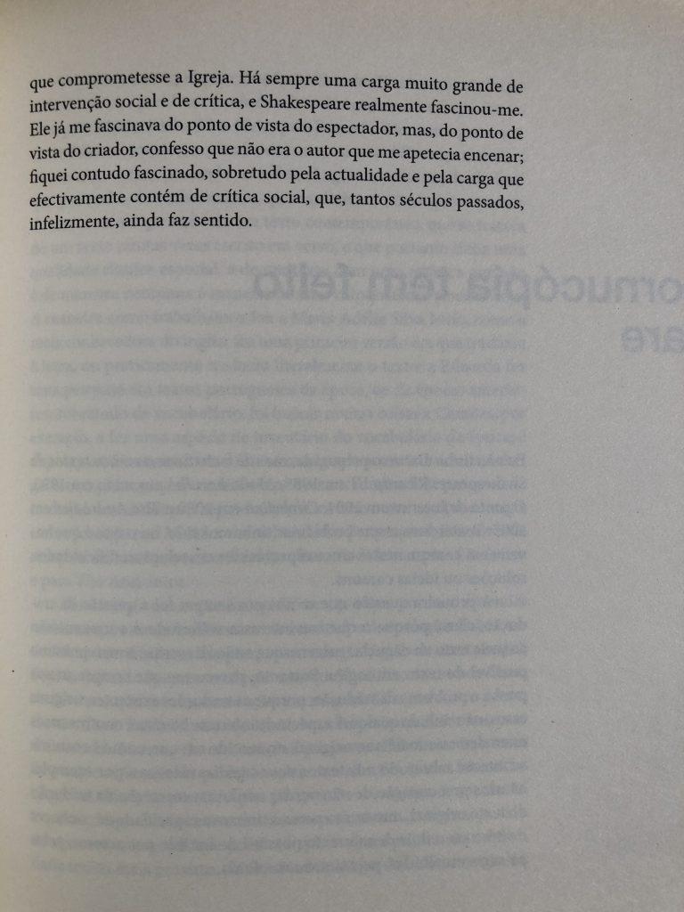 """""""Convite para fazer TITUS"""", Luís Castro entrevistado por M. Helena Serôdio, pág. 103"""
